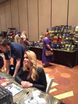 STAR TREK actress Chase Masterson with Adrienne Tookey in the background.