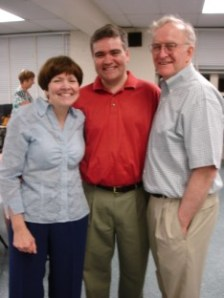 Chris with his parents, Jeanie and Corky