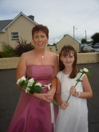 Ann, Maura's sister and Terri (her niece) arriving at church