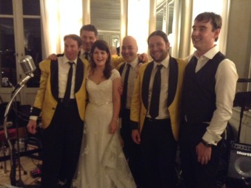 With the band after the final tune
