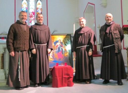 Frs Caoimhin, David, Liam and Gabriel