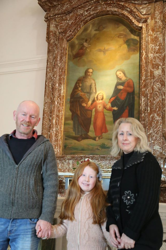 Holy Family Painting St Mel's Cathedral.  Blessings on the family in front of it and all families these Christmas days.  Amen!