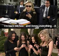 texting hillary is my