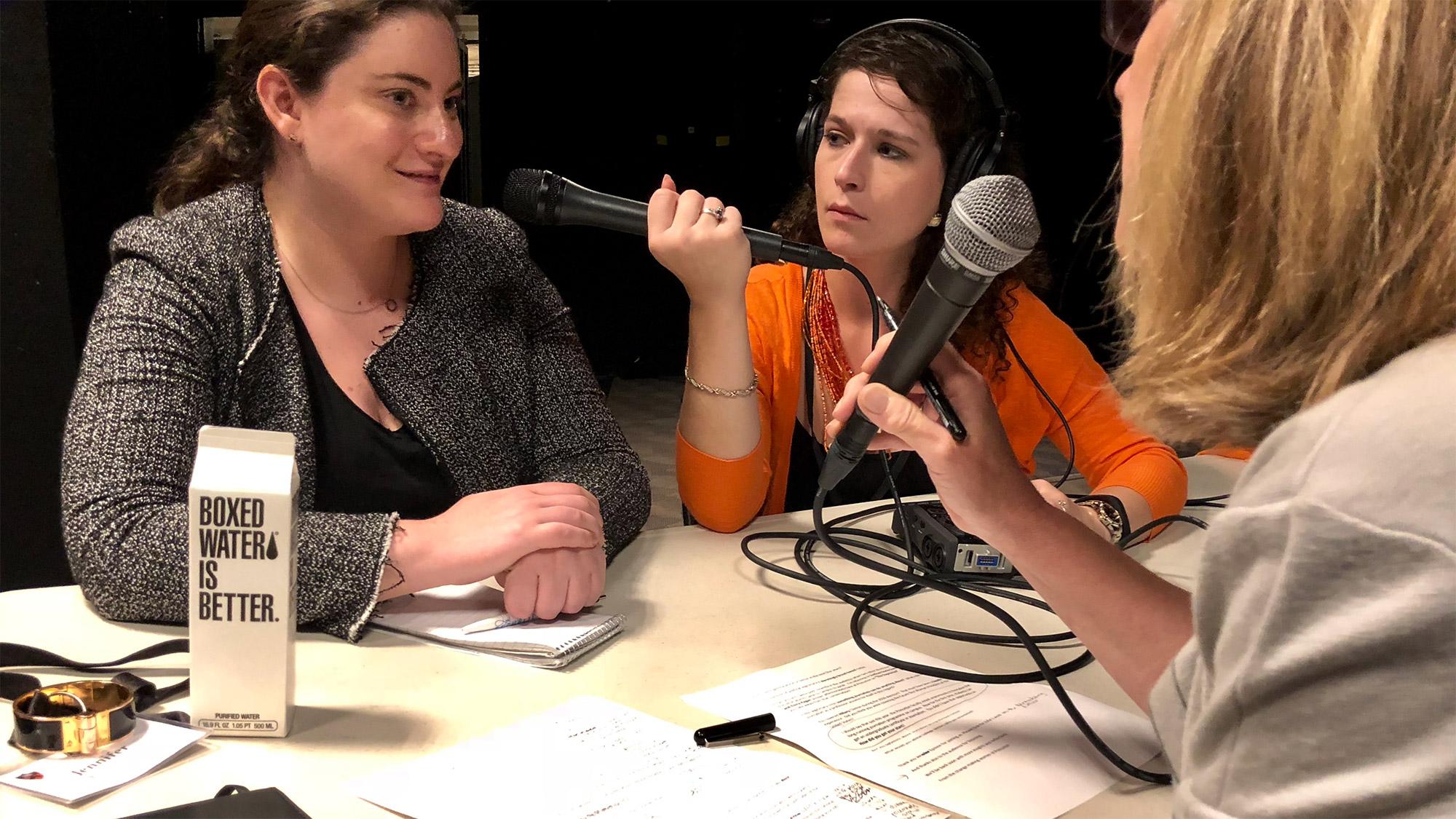 Jennifer Epstein in the studio