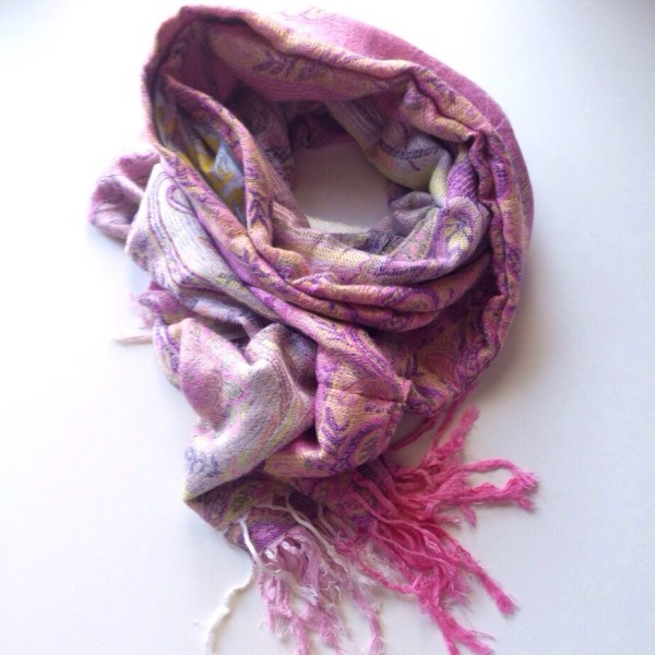 Pink swirls pocket scarf by sherocksabun