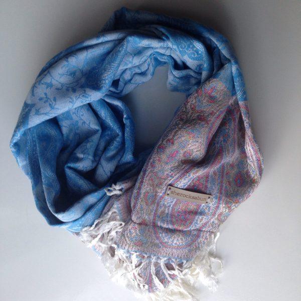 Silver blue pocket scarf by sherocksabun