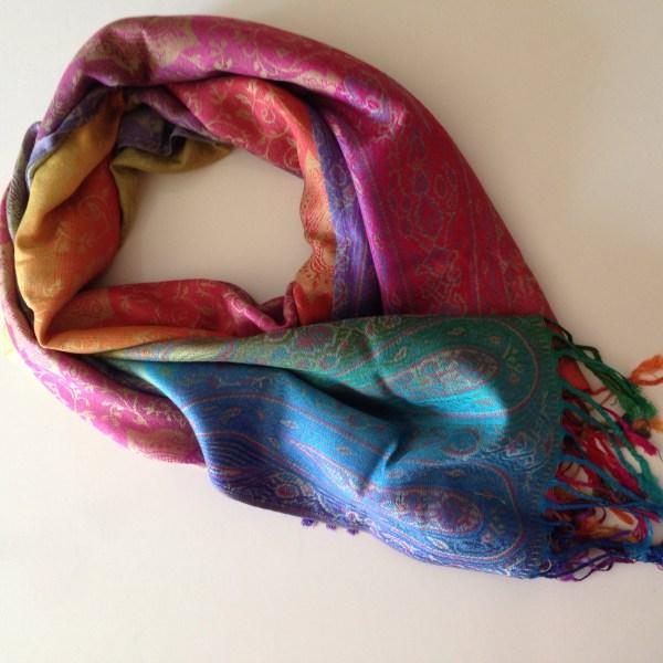 Color me happy green pocket scarf by sherocksabun