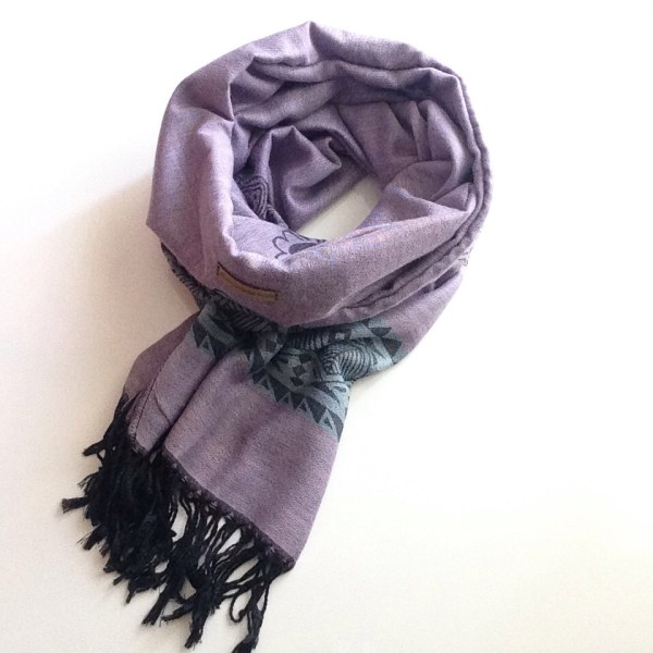 Lavender light teal elephant pocket scarf by sherocksabun