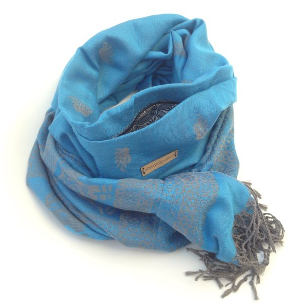 Light blue pocket scarf by sherocksabun