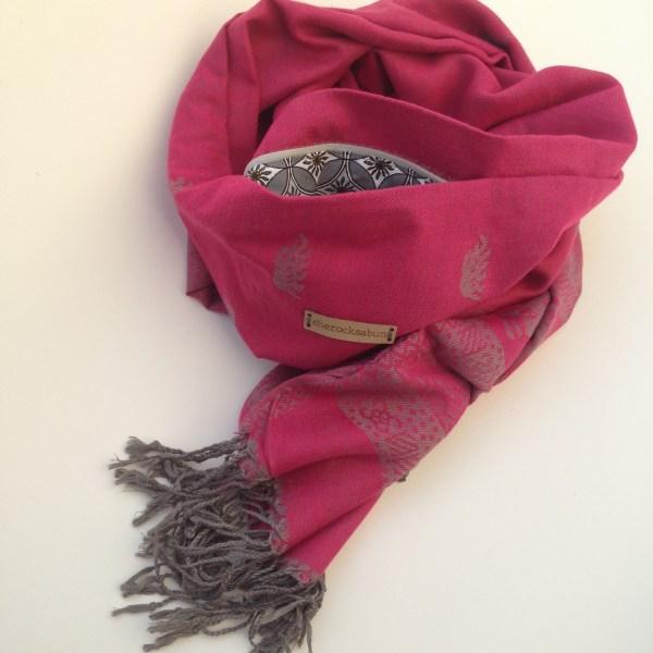 Aniline red pocket scarf by sherocksabun