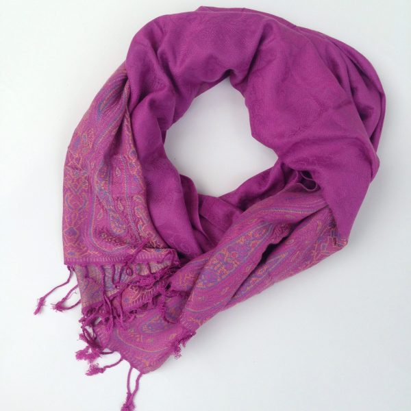 Soft plum pocket scarf by sherocksabun