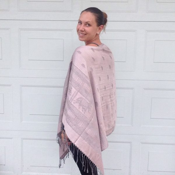 Rosé champagne oversized poncho