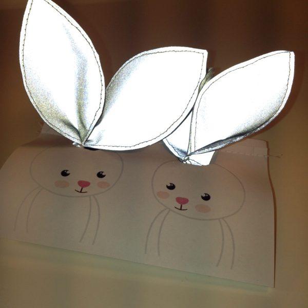 Reflective bunny hair tie, set of two by sherocksabun