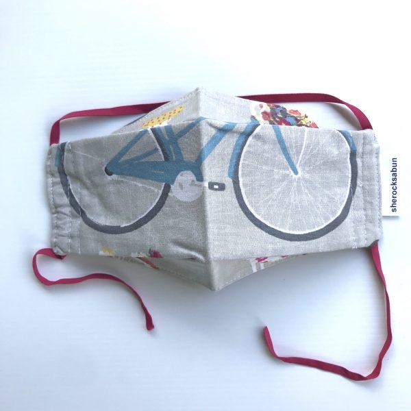 kankainen kasvomaski polkupyörä, fabric mask bicycle, ansiktsskydd cykel