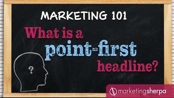 Marketing 101: Qu'est-ce qu'un titre qui donne le premier point?