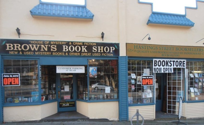 brown's book shop storefront