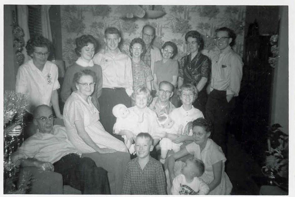 Family Christmas circa 1960