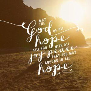 Scripture verse, Romans 15:13