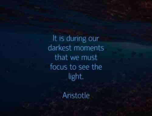 focus, darkness, light, Aristotle, quote