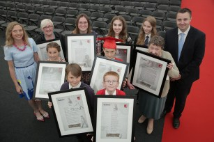 The Sentinel's Too Write competition. Pictured are all the runners-up and winners