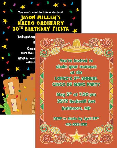 fiesta party invitation wording daily