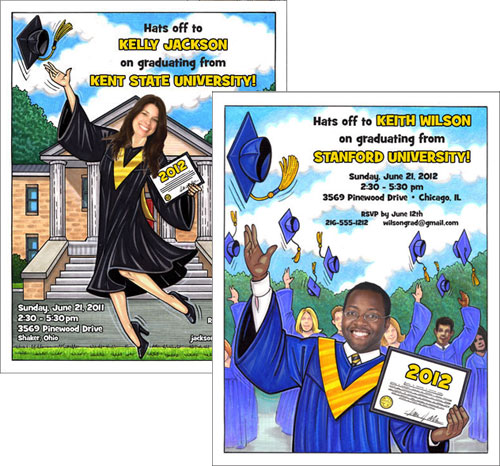 graduation open house invitations and