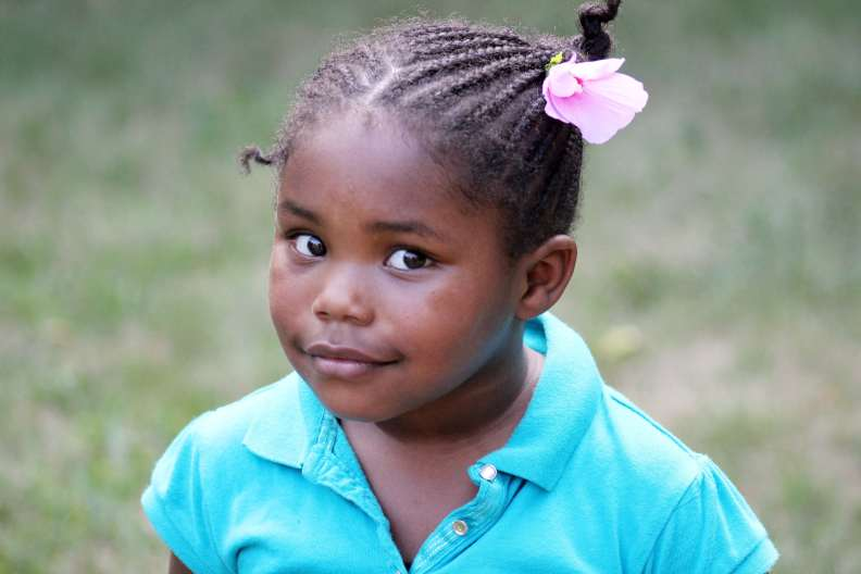 African American little girl