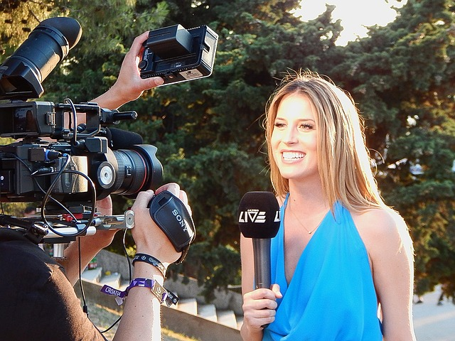 earned media: reporter and camera