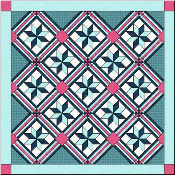 Quilt with pieced sashing