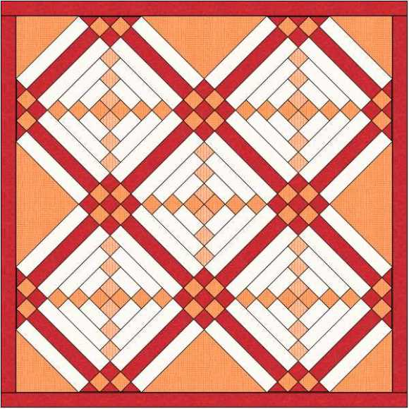 quilt with 9 patch cornerstones