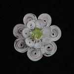 """Sri Lankan"" brooch / pendant hand formed in fine silver and peridot"