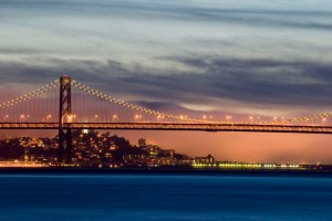 Bay Bridge, Twilight, San Francisco, CA