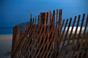 Fence Under Strawberry Moon, Delray Beach, Florida (June 2011)