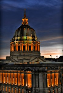 Lights Goes Orange for The World Champion San Francisco Giants!, City Hall, San Francisco