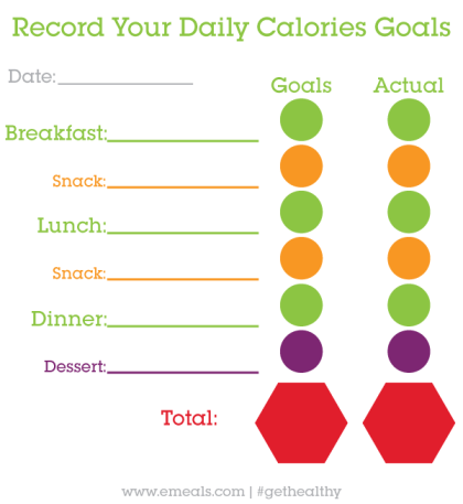 daily calorie log printable simply sherryl