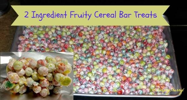 2 Ingredient Fruity Cereal Bar Treats