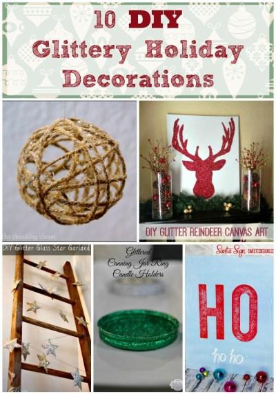 10 DIY Glittery Holiday Decorations