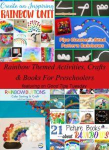Rainbow Themed Activities, Crafts & Books For Preschoolers