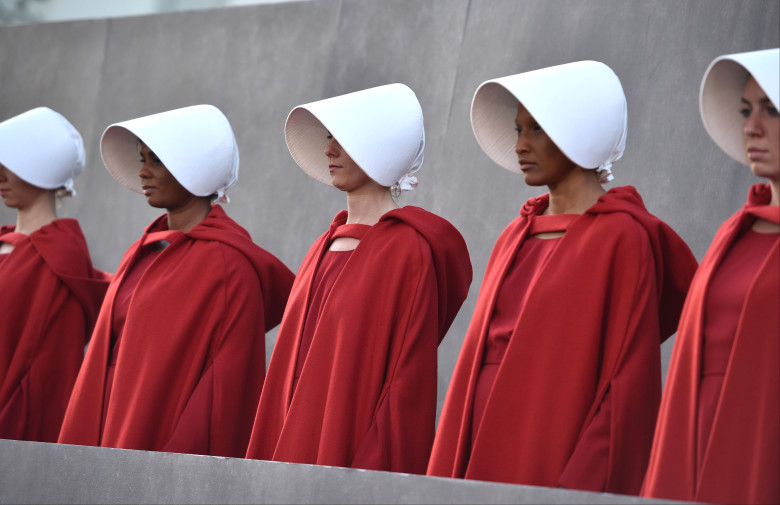 Handmaid's Tale protest at Brett Kavanaugh's Supreme Court Confirmation Hearing