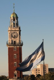 """The """"English Tower"""" which was gifted to Argentina by the UK (before the war)"""