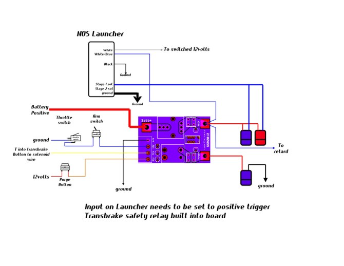 wiring diagram for nos launcher w/ leash electronics single