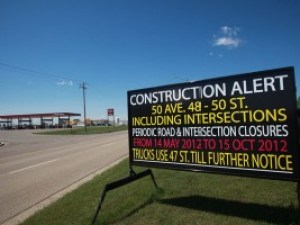 Sherwood Park Construction Signs