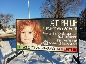 Sherwood Park School Signs