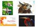 B. Birds: Feeding Time, Eyes to the Sky, Purple Heron