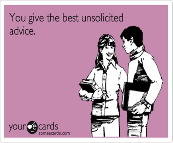 Image result for unsolicited advice free image cartoon