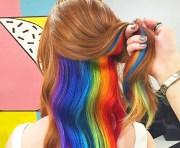 hidden rainbow hair