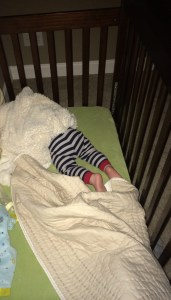 Yes. He sleeps with a blaket over his head. Yes. He can breathe. His face isn't covered. Don't report me to DHR