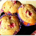 Strawberry poppy seed muffins