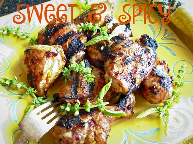 Sweet and Spicy Grilled Chicken | ShesCookin.com