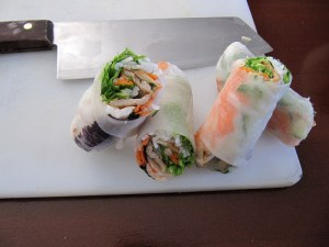 Xanh Bistro Spring Rolls, how to make spring rolls video